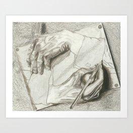 Drawing Hands, MC Escher Art Print