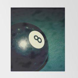Eight Ball-Teal Throw Blanket