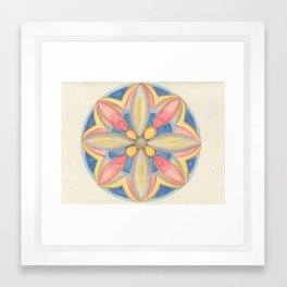 Jewel Mandala Framed Art Print