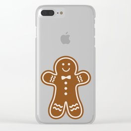Gingerbread Hugs Clear iPhone Case