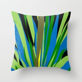 OFF IN THE WEEDS Throw Pillow