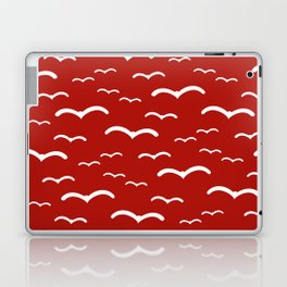 Maritime Sea Gull Pattern in Red & White - Mix & Match with Simplicity of Life Laptop & iPad Skin