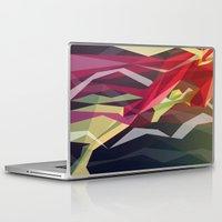 running Laptop & iPad Skins featuring Running Man by Liam Brazier