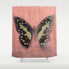 Vintage Butterfly 3 Shower Curtain