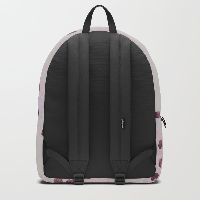 Glamorous Flamingo pink and rose gold sparkle Backpack