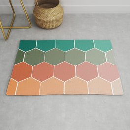 Colorful Hexagons Rug