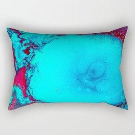 Blue and Magenta Paint (Color) Rectangular Pillow