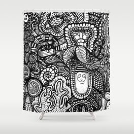 Under the Sea Doodle Shower Curtain