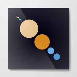 Planets To Scale (Diagonal) Metal Print