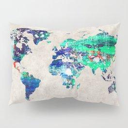 World Map 46 Pillow Sham
