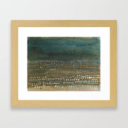 Landscape Dots - Night Framed Art Print