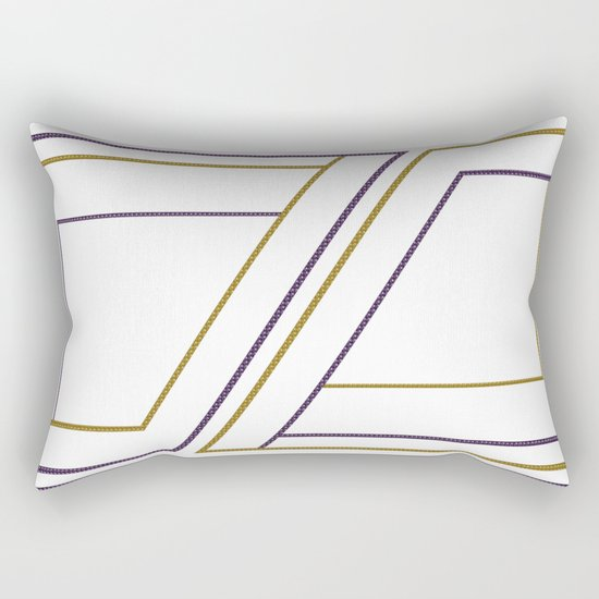 Geometry on white (abstract) Rectangular Pillow