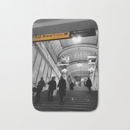 Milano Station Black and White Photography Bath Mat