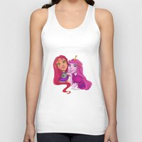 princess bubblegum Tank Tops featuring Starfire and Princess Bubblegum by Angie Nasca