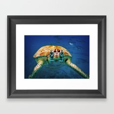 Bajan Turtle Framed Art Print