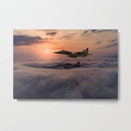Eagles In Flight Metal Print
