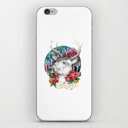 Christmas Reindeer / Deer Painting Drawing iPhone Skin