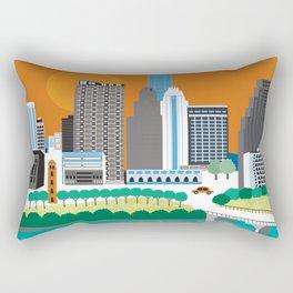 Austin, Texas - Skyline Illustration by Loose Petals Rectangular Pillow