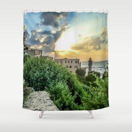 Sunset Old Jaffa Shower Curtain