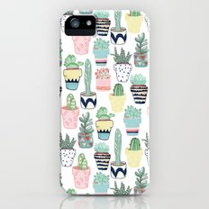 Cute Cacti in Pots iPhone (5, 5s) Slim Case