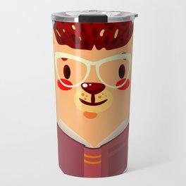 Adorable Hedgehog Book Nerd Shirt  Cute Pun Animal Travel Mug
