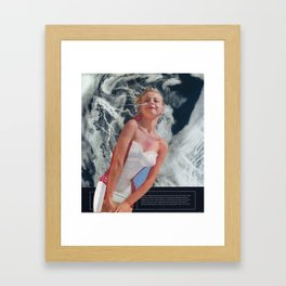 107 - call me a cloud artist Framed Art Print