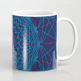 Geometric Circle Blue/Red Coffee Mug
