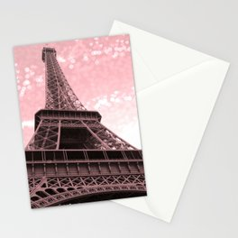 Paris Pink Eiffel Tower Stationery Cards