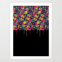 Flowers Melting Art Print