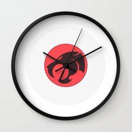Geometric cat. Wall Clock