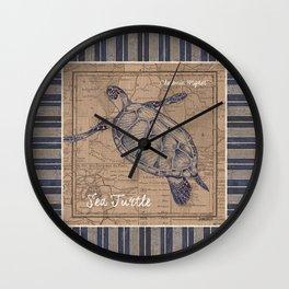 Nautical Stripes 4 Wall Clock