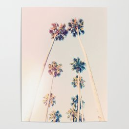Vintage Pastel Palm trees Poster