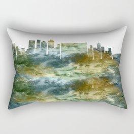 Cape Town South Africa Skyline Rectangular Pillow
