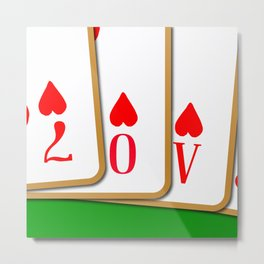 Love Playing Cards Metal Print