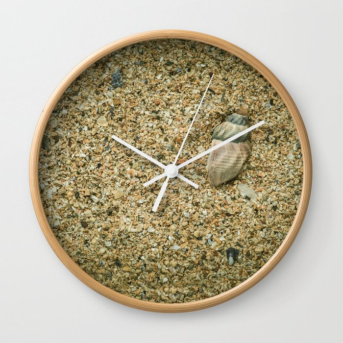 Seashell wall clock by errne society6 for Seashell clock