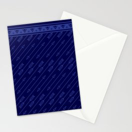 Arrows Flying (Dark Blue) Stationery Cards