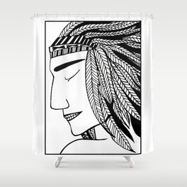 Native Indian Feathers Shower Curtain