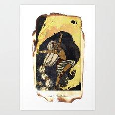 moon tarot Art Print