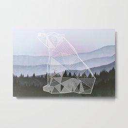 Geometric Nature - Bear (Full) Metal Print