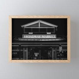 Broadway Market B&W Framed Mini Art Print