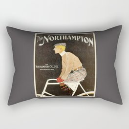 The Northampton Bicycle co. by Edward Penfield Rectangular Pillow