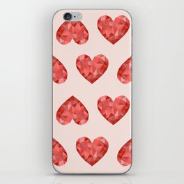 Gem hearts (PANTONE OF THE YEAR 2019) iPhone Skin