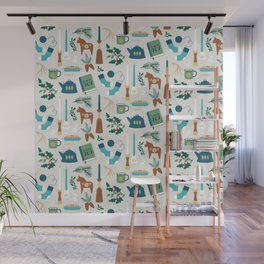 A Very Hygge Holiday Wall Mural