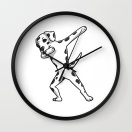 Funny Dabbing Dalmatian Dog Dab Dance Wall Clock