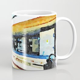 Pescara railway station: train enters the station Coffee Mug
