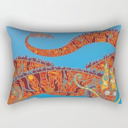 Red Dragon Rectangular Pillow