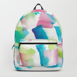 180719 Koh-I-Noor Watercolour Abstract 9 | Watercolor Brush Strokes Backpack