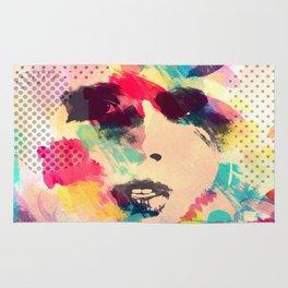 Abstract girl Rug