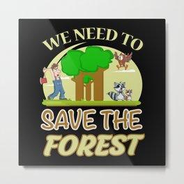 Climate Change Earth CO2 Future Planet Gift Idea Metal Print