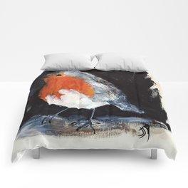 Robin Wild UK Garden Bird Acrylics On Paper Comforters